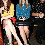 Lauren Laverne was blue at Moschino Cheap & Chic.