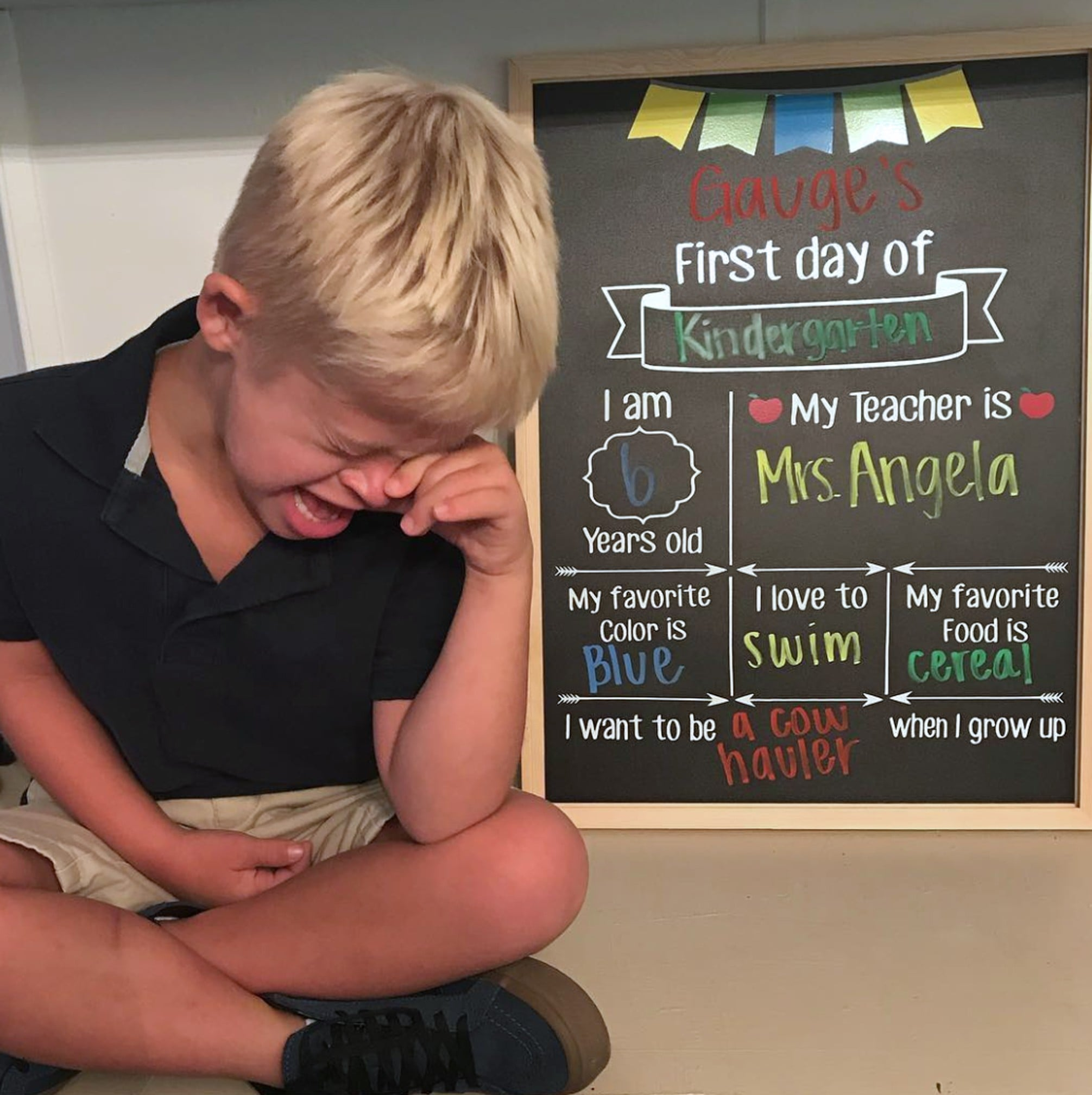 Funny 1st day of school pictures