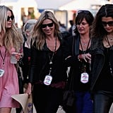 Kate was in Woodford, Australia, in July 2011 to see Jamie Hince's band, The Kills, play during the Splendour in the Grass music festival.
