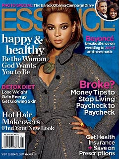 Photo of Beyonce Knowles on Essence Cover, Revealing She Married Jay-Z
