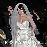 Marla Sokoloff wore white to her November 2009 nuptials with Alec Puro at Il Cielo in LA.