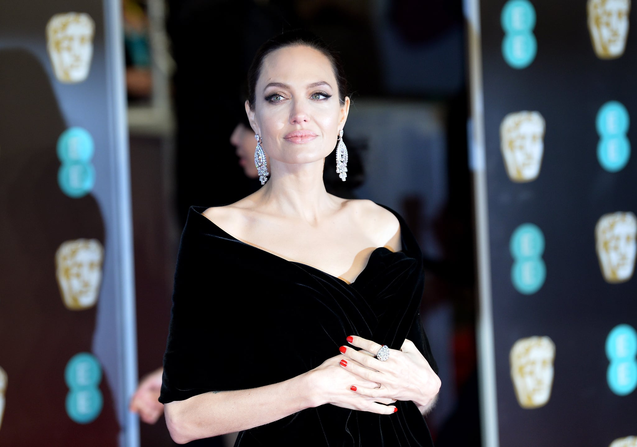 LONDON, ENGLAND - FEBRUARY 18:  Angelina Jolie attends the EE British Academy Film Awards (BAFTA) held at Royal Albert Hall on February 18, 2018 in London, England.  (Photo by Jeff Spicer/Jeff Spicer/Getty Images)