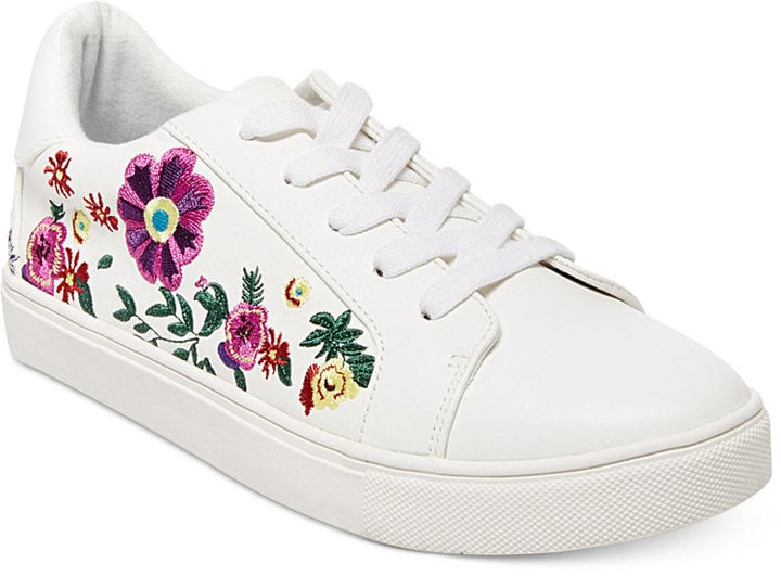 Betsey Johnson Maya Embroidered Sneakers ($69) are covered with flowers.