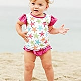 A Garnet Hill exclusive, this Rashguard and Ruffled Bottom Set ($37) will make your little girl the hit of the beach.