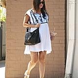 Rachel Bilson Pregnant in a White Dress