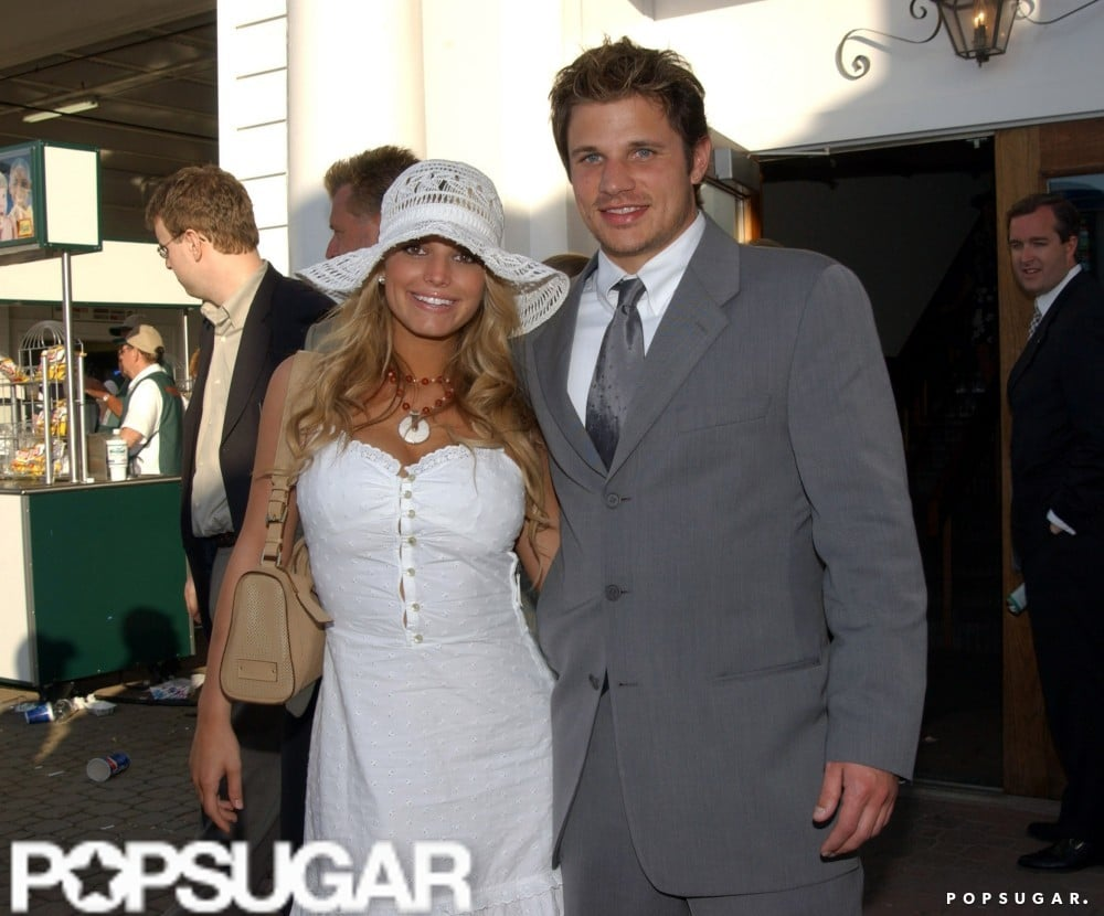 Nick Lachey and Jessica Simpson attended the 2001 Kentucky Derby together.