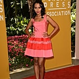 Kerry Washington donned a girlie pink, fit-and-flare Dior dress for the Hollywood Foreign Press Association's Installation Luncheon.