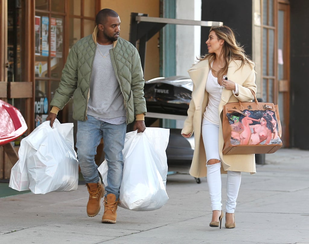 Kim And Kanye Both Carry Crazy Bags