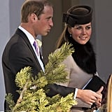 Kate, William, and Prince Harry attended a friend's March 2, 2013, wedding in Arosa, Switzerland.