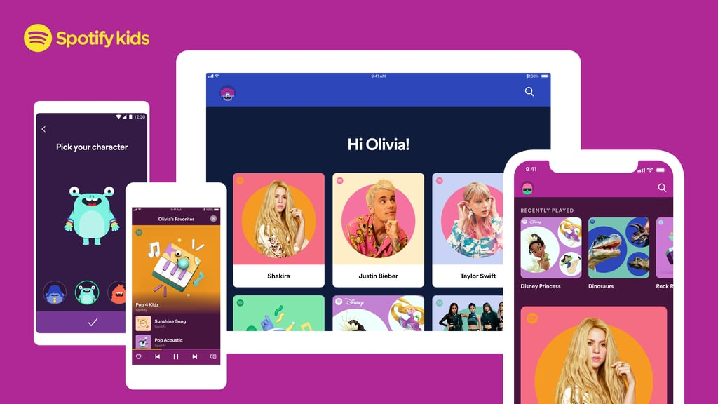 "Spotify has big news for the tiniest music-lovers in your brood: the company has launched a brand-new kid-friendly app just for littles, called Spotify Kids. Exclusive to Spotify Family subscribers, the ad-free app, which is currently in beta, contains music, audiobooks, educational resources, and more for kids ages 3 and up. ""Spotify Kids was born out of the desire to create a playground of sound just for kids—to build a place where younger kids can explore their favorite music and stories in a fun environment. The content is ad-free and hand-picked by a team of editors, and the experience is bursting with color,"" Alex Norström, Spotify's chief premium business officer, said in a press release back when the app was first launched in Ireland this past October. ""Spotify Kids is a composite of playlists, which makes it easy for kids to find music and stories from their favorite movies and TV shows or hit plays on a playlist to sing along to during their favorite activity—or their least favorite chore.""      Related:                                                                                                           A New Version of It's a Small World, and 10 Other Disney Attractions Your Kids Can Ride Virtually               Features of the Spotify Kids App  Music. Obviously, there's going to be tons of kid-friendly music available on the app. As of now, 125 playlists and over 8,000 songs are in the library. Stories. More than 60 hours of audiobooks and stories — including Disney Music Group Stories, fairy tales, classic stories, and short stories — are available now.  Bedtime Content. To add a bit of chilled out flair to bedtime routines, the app has lullabies, calming music and sounds, and bedtime stories. Educational Content. In addition to educational music and a playlist hub called ""Learning,"" the app now includes a global playlist with songs to help teach kids hygiene best practices, including the Baby Shark ""Wash Your Hands"" song. Local Content. More than 50 percent of of the content on the app will be localized to the country you live in. ""Grown Ups"" Settings. To customize your kids' experiences with the app, there are a number of PIN-protected settings that give you control over various features, such as a block feature that enables you to remove particular content from your child's account and the ability to review the last three months of their listening history.  Features of the Spotify Kids App Specific to U.S. Customers  Diverse Content. To highlight the country's melting pot of cultures, the U.S. Spotify Kids app includes ""Spanish-language, country, Christian, Motown, and soul dance party playlists."" Pop Culture Content. Like the Spotify app, Spotify Kids will tap into big pop culture moments through music, like with its Trolls World Tour playlist and Frozen playlist. Collaborations With Popular Kid Brands. Spotify is working with brands like Disney Music Group, KIDZ BOP, and Nickelodeon to create custom kids' content.  Spotify Kids is currently exclusive to Spotify Premium Family customers, which covers up to six users under the same roof. If you're not already a subscriber, try Spotify Premium Family for free for one month before subscribing for $15 per month. New Premium subscribers are also eligible for one month free of Premium Family before committing to a Family membership. Download the Apple app here and the Android app here, and keep reading to get a peek at what the Spotify Kids app looks like.      Related:                                                                                                           Children's Book Authors Are Offering Free Online Videos While Kids Are Home From School"