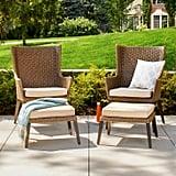 Ennismore All-Weather Wicker Outdoor Patio Conversation Seating Set