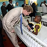 When Harry embarked on his first solo royal tour, there were several tributes to his late mother woven through his schedule. One of them came with a visit to the Bustamante Children's Hospital in Kingston, Jamaica. Diana was due to visit in 1997, but her untimely passing meant she never made it. Fifteen years later, Harry fulfilled his mother's wish by making the visit himself — spending more time there than was originally allocated — as he met with the patients and staff.