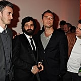 Jude Law Joins His Buddies For a Fashionable London Bash