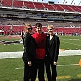 Kate Upton attended a Tampa Bay Buccaneers game with her family. Source: Twitter user KateUpton