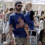 Lil Violet Gets a Hip Ride from Daddy David Grohl
