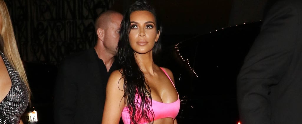 Kim Kardashian Wearing Neon Fashion Trend