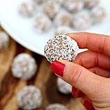 Coconut-Covered Chocolate Almond Protein Balls