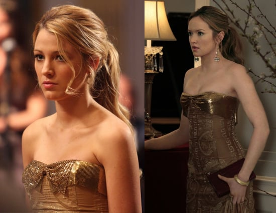 Serena in Gold Dress on Gossip Girl | POPSUGAR Entertainment