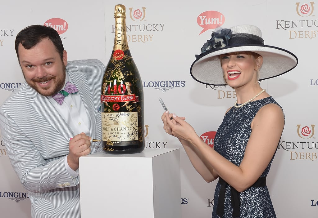 Michael Gladis and Beth Behrs were all smiles.
