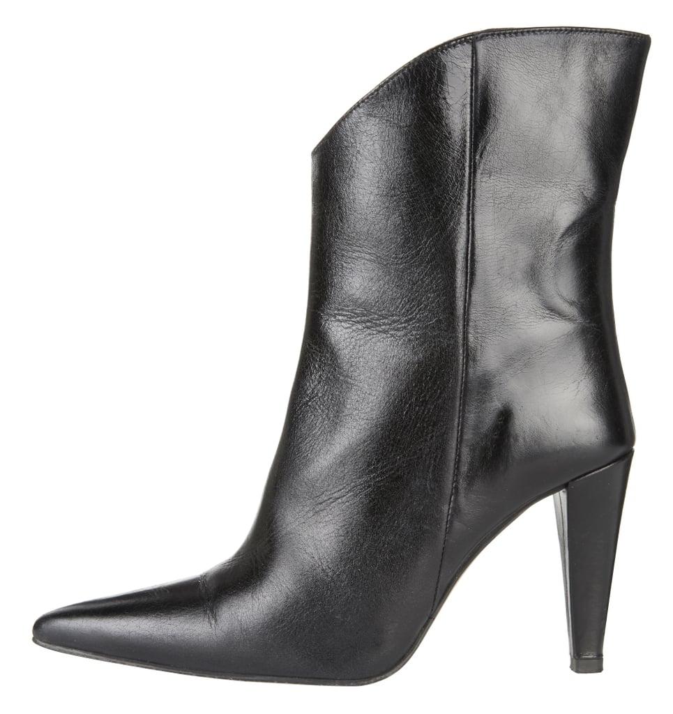 Topshop Havana Cone Heel Leather Calf Boots