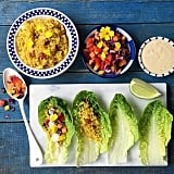 Protein- and fiber-rich quinoa makes for a healthy addition to a veggie wrap. For a complete meal, serve it alongside grilled produce.
