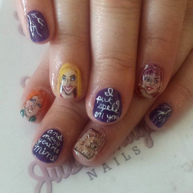Hocus Pocus Horror Movie Nail Art Inspiration Popsugar Beauty