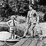 الملكة إليزابيث، والأميرة آن، والكلب فلوف، التاريخ غير معروف
