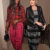 Kate Moss and Naomi Campbell at Burberry Show September 2017
