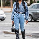 Skinny jeans are the perfect style to grab when you're looking for a style that will show off the entirety of your brand new knee-or-thigh-high boots this fall.