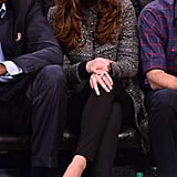 Kate Middleton wearing J. Crew jeans at the Brooklyn Nets game in 2014.