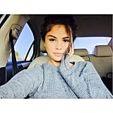 Selena Gomez's casual look is number seven on a list of Instagram's most liked photos this year.
