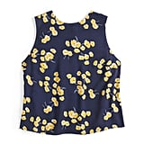 Silky Button Back Shell in Tossed Wildflowers