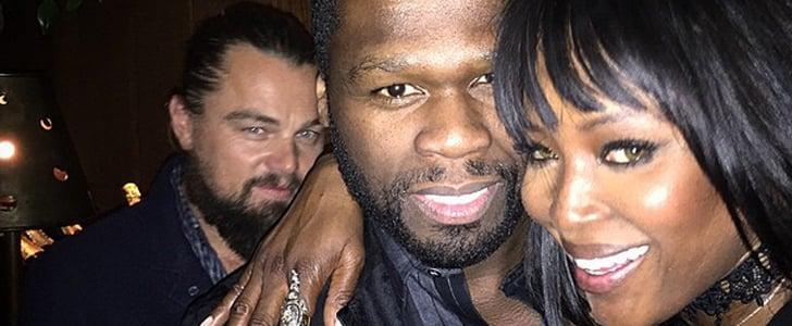 Leonardo DiCaprio Perfectly Photobombed 50 Cent and Naomi Campbell