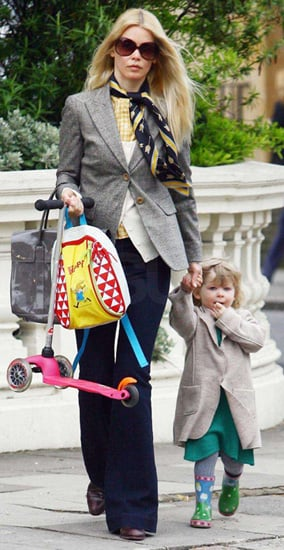 Claudia Schiffer and Daughter
