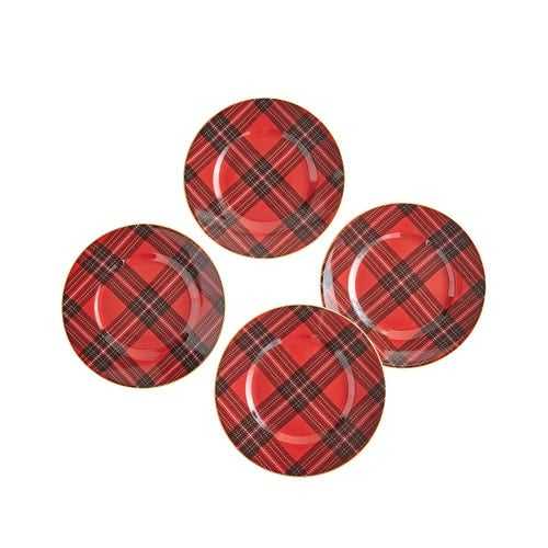 Tartan Plaid Salad Plate Set