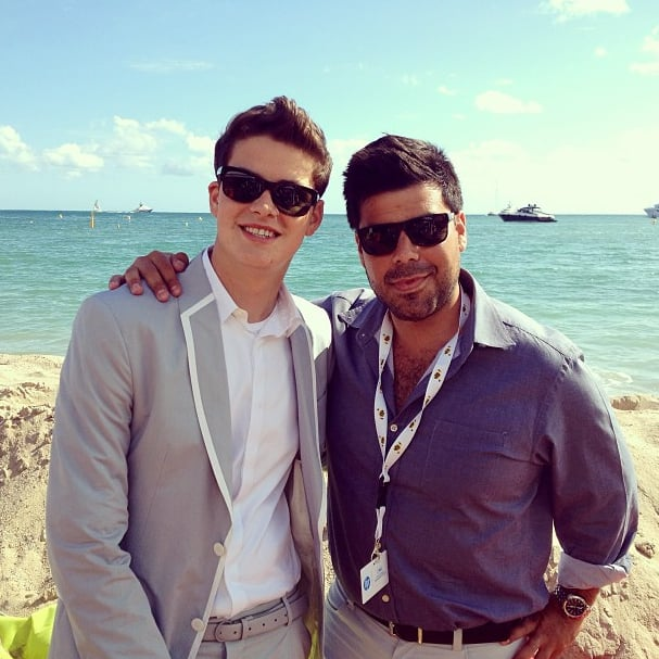 Israel Broussard and a pal admired the view during their May stay in Cannes.  Source: Instagram user israelbroussard