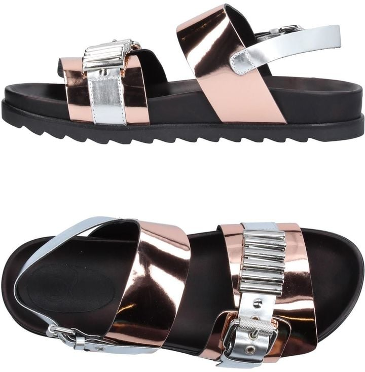 Shine bright like a lucky penny in McQ by Alexander McQueen Sandals ($269).