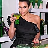 Kim was named as the face of Midori liqueur in May 2011 and celebrated her new gig at an LA party that month.