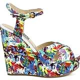 Love Moschino Women's Printed Wedged Sandals