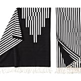Striped Motif Throw in Black and White ($30)