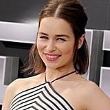 Emilia Clarke's Voluminous Half-Up Ponytail