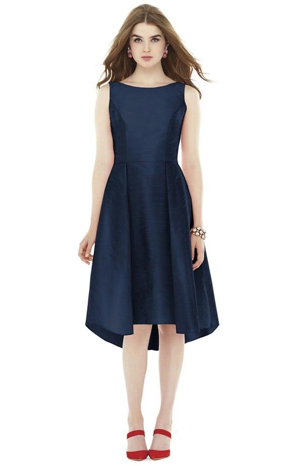 b3946948f11a Alfred Sung Bow Back Dupioni Fit & Flare Midi Dress ($196 ...