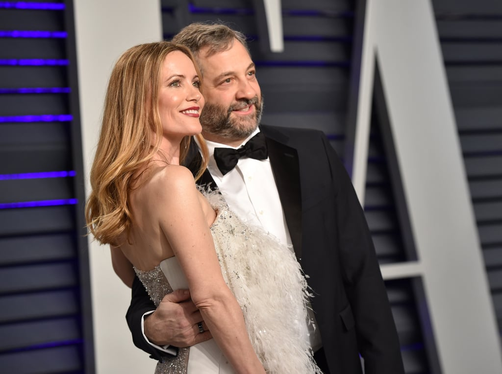 Judd Apatow Couldn't Resist Taking Pictures of Leslie Mann at the Vanity Fair Party, and We Can't Blame Him