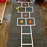 Bring hopscotch indoors for some rainy day fun!