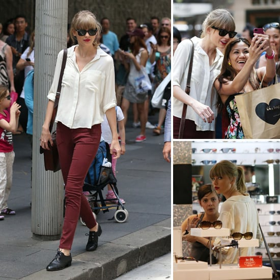 Taylor Swift Gets Mobbed By Fans During a Sydney Shopping Trip