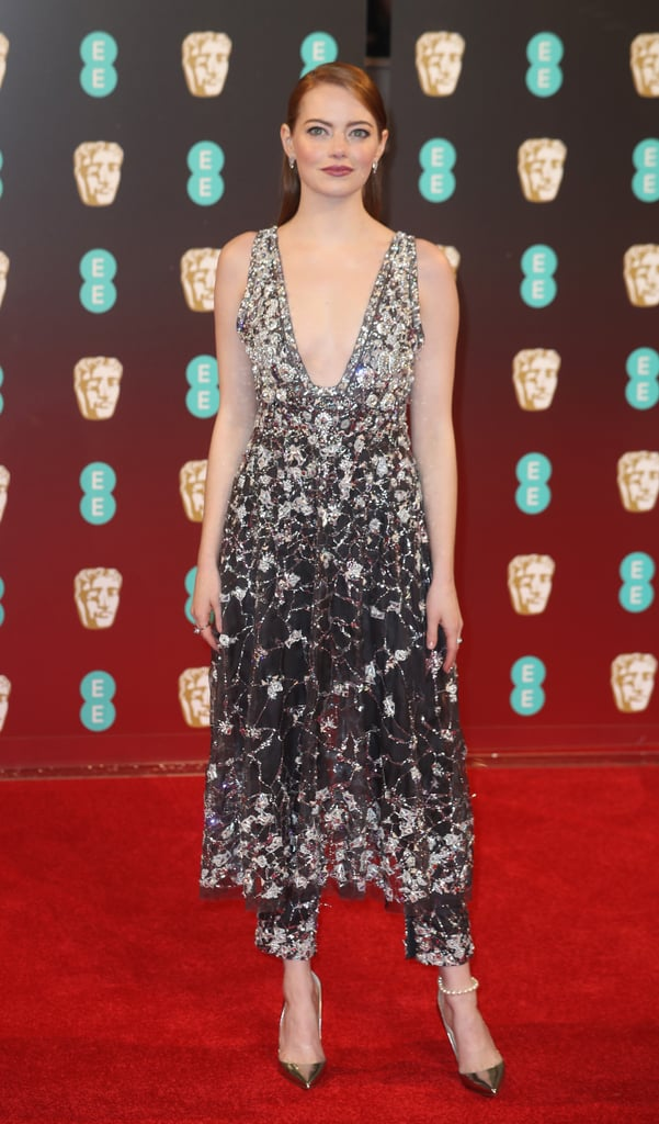 Emma Stone at the 2017 BAFTAs