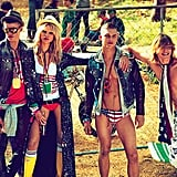 Group shot for Dsquared2 Spring '12. Source: Fashion Gone Rogue