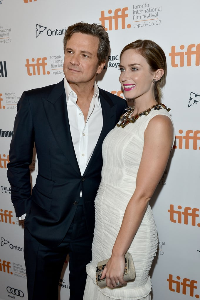 Emily Blunt and Colin Firth smiled at the Arthur Newman premiere.