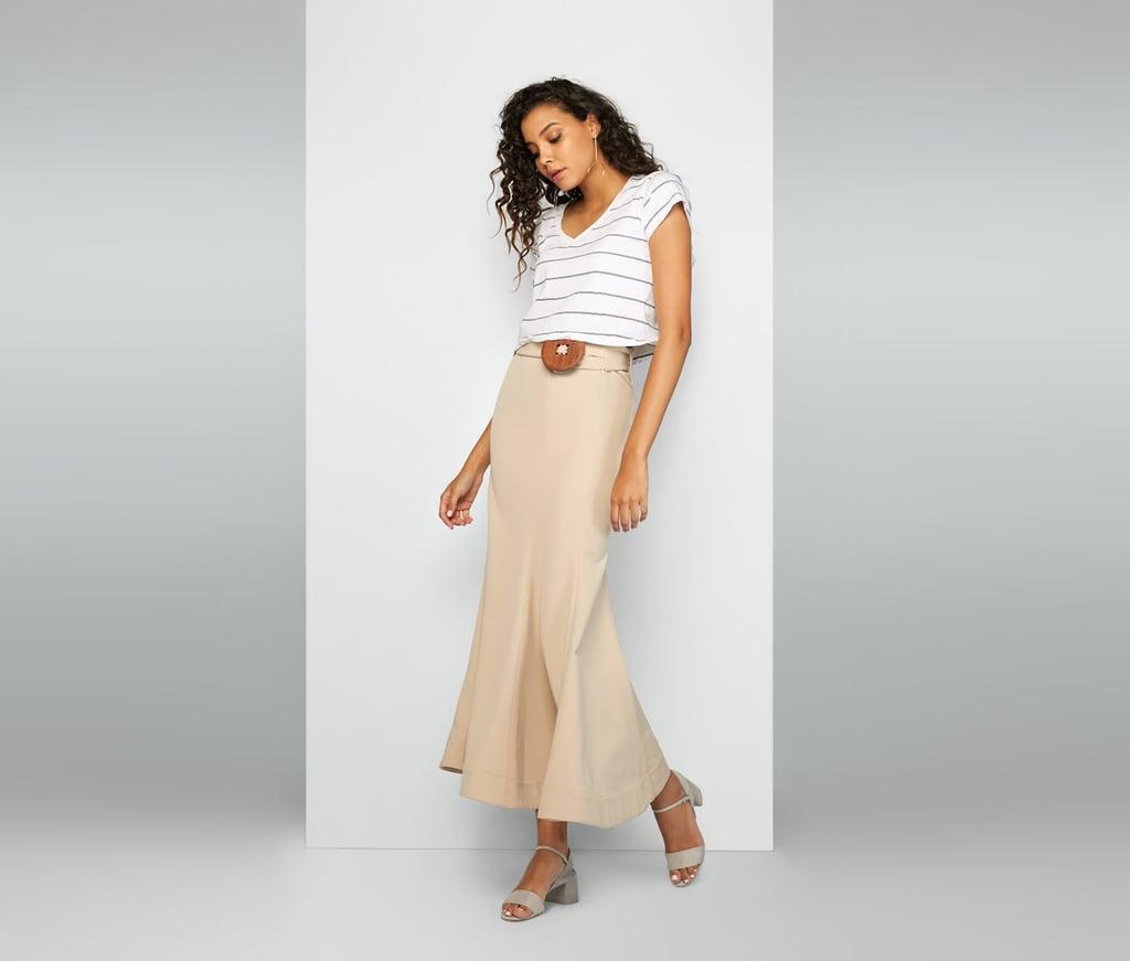 Fame and Partners Sand Rocha Skirt ($229)