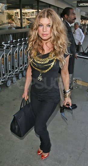 Found! Fergie's Black Tee with Gold Chains